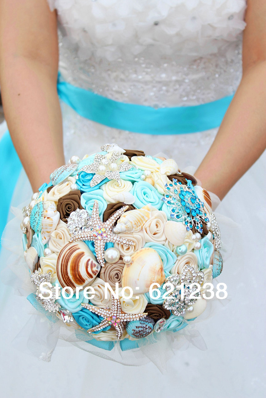 Theme Wedding Bouquet Beach Wedding Bride Holding Flower Starfish