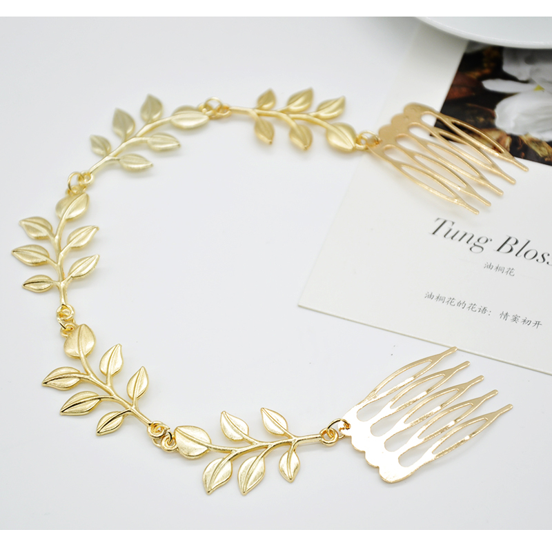 Hot sale fashion vintage boho chic gold leaf head chain brand hair comb hairpins accessories ornament wholesale X60*SS0277W#S3(China (Mainland))