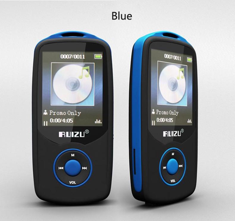 Купить 2016 Новый Оригинальный RUIZU X06 Bluetooth Спорта MP3 плеера 8 ГБ с 1.8 Дюймовым Экраном 100 часов высокого качества lossless Рекордер FM