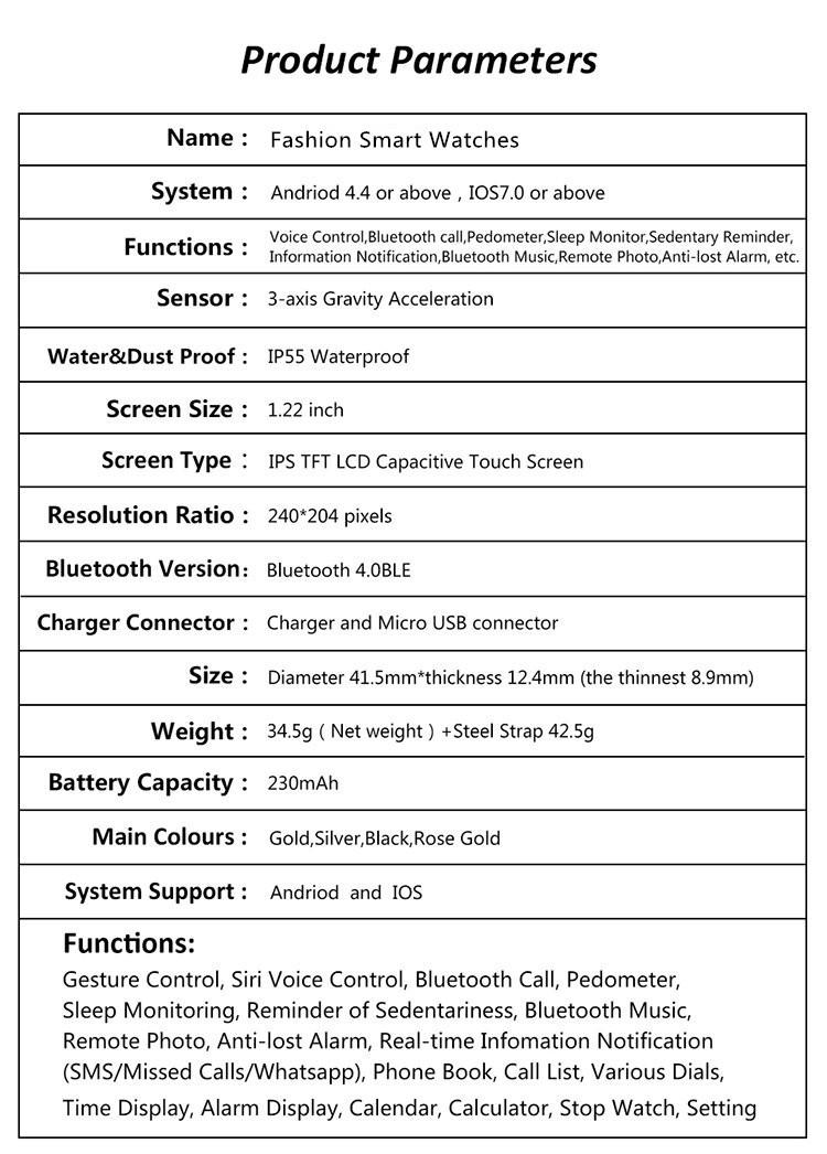 ถูก 2016บลูทูธใหม่ดูสมาร์ทกดข้อความs mart w atchระยะไกลกล้องสวมใส่อุปกรณ์สำหรับA Pple ip hone A Ndroidหัวเว่ยios PK U8