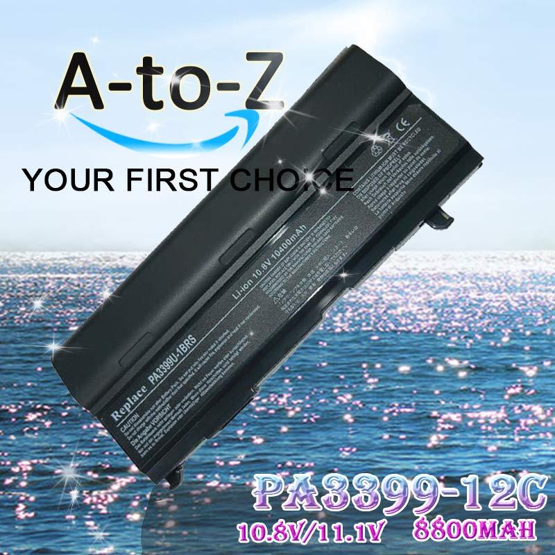 Battery For Toshiba PA3399U-1BRS PA3399U-2BRS PA3400U-1BRS PA3478U-1BRS PABAS057 Satellite A100 A80 M105 M40 M50 Tecra A3 A4 S2(China (Mainland))