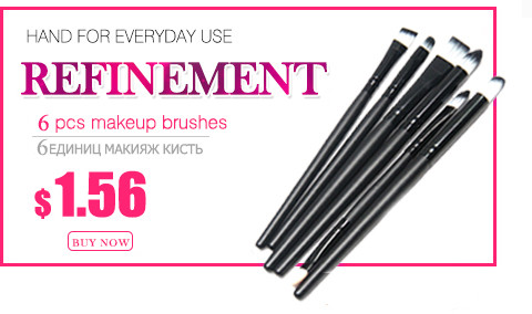 Hot Sale 6 Pcs beauty make up blush set Professional makeup brushes