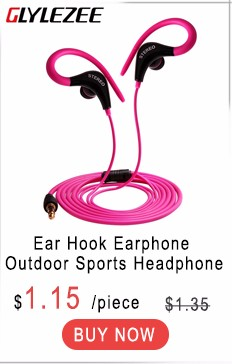 Glylezee Sports Earphone Headset Wired Outdoor MP3 Music Headphone with Microphone Calling for Cellphone