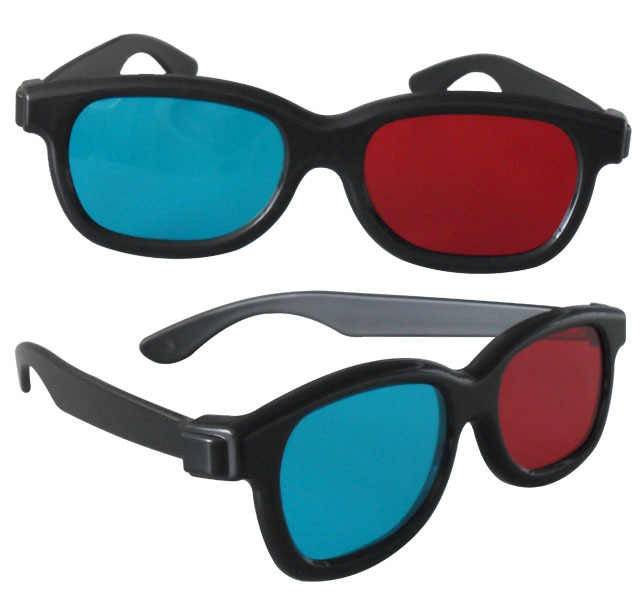 blue and red 3D glasses pic 1