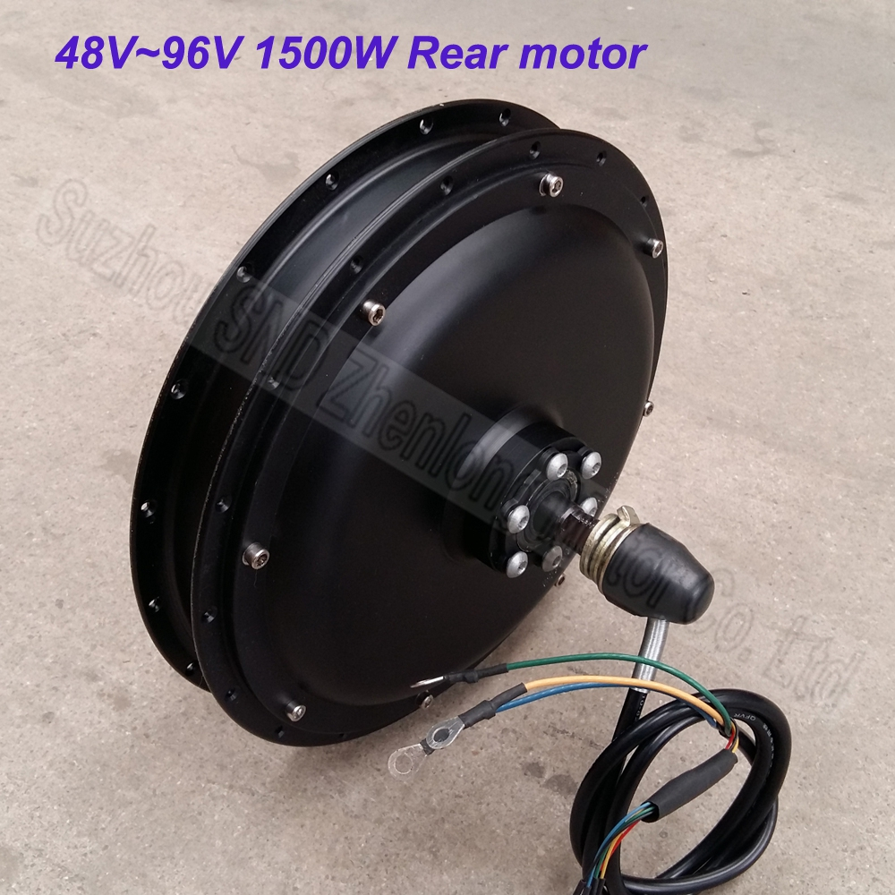 1500w 48V60v Customized rear electric bike spoke wheel brushless dc hub motor G-M037  -  Suzhou SND Zhenlong Motor Co. Ltd store