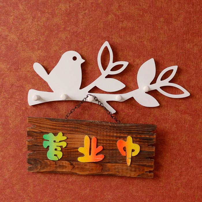 Birds Wooden Hook Clapboard Shelf Wall Rack Fashion Home Decorative Furniture Wall Shelves For Living Room Holder Bathroom Shelf(China (Mainland))