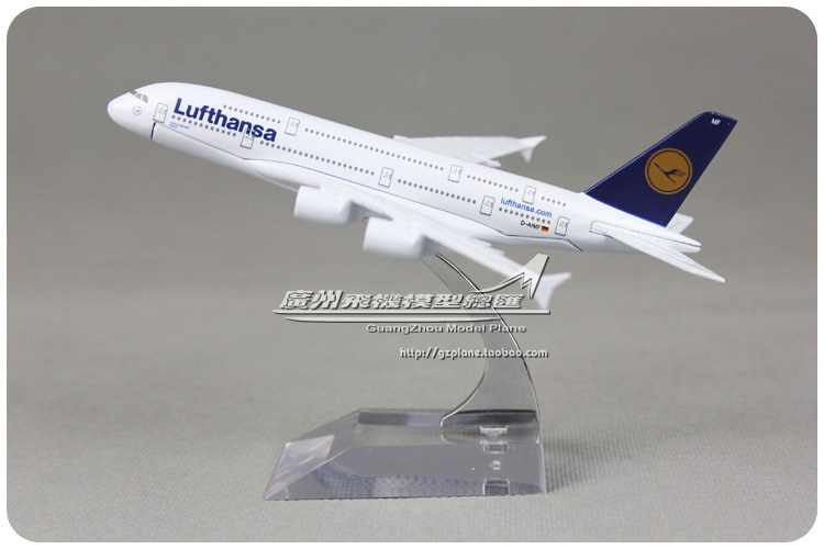 16cm Lufthansa Airbus A380 D-AIMF Airlines Alloy Airplane Model Airways Plane Model Diecast Souvenir Collections Free Shipping(China (Mainland))