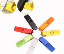 Fashion Rotate for android Smartphone pen drive 8G 16G 32G 64G OTG USB Flash Drive Micro U Disk memory drive