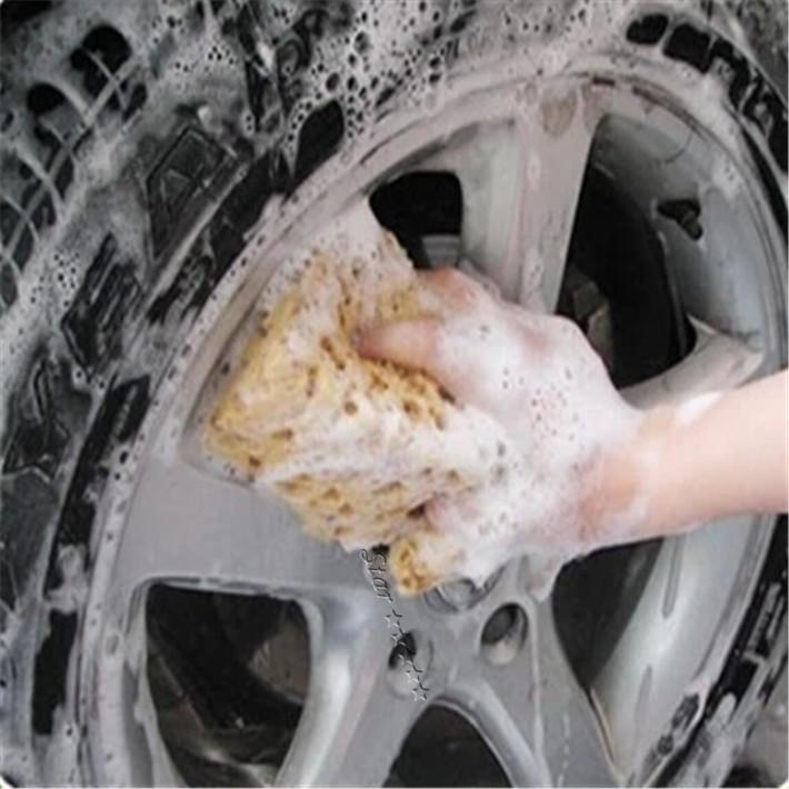 New Fashion Hot Sale Mini Yellow Car Auto Washing Cleaning Sponge Block Car Styling Free Shipping(China (Mainland))