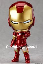 Free Shipping New Arrival The Avengers Q Iron Man 3 High Quality PVC Action Figure Toys Dolls Approximately 10cm