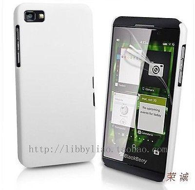 P5 White Hard Rubber Case Pouch Shell Skin Cover blackberry Z10 Z 10 - Shenzhen magic Technology Co. Ltd. store