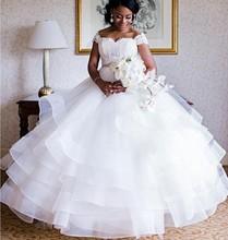 Don's Cap Sleeve Muslim Luxury Princess flowers Wedding Dresses Plus Size 2016 Bridal Gown Vestido De Noiva Custom Made(China (Mainland))