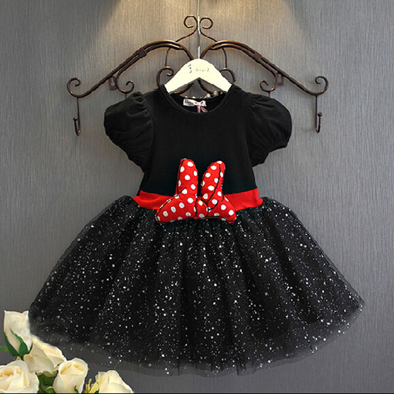 2016 Summer Baby Girls Dress Minnie Mouse Dresses For Girls Princess Minnie Dress Birthday Party Children Clothes Kids Costume(China (Mainland))