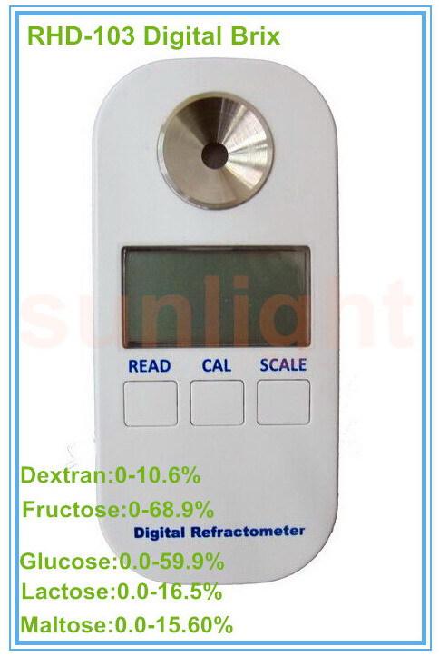 RHD-103 Digital Dextran/Fructose/Glucose/Lactose/Maltose 5 in 1 Brix Refractometer(China (Mainland))