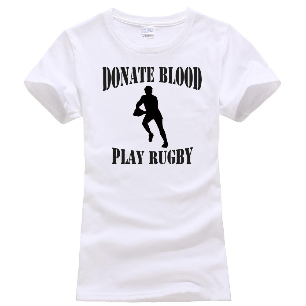 T shirt design qld - Only4u En Ligne T Shirt Design Drap Donner Du Sang Jouer Rugbying Femmes Chemises