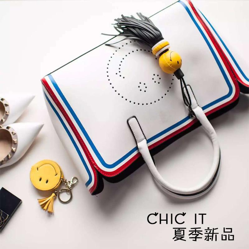Xiaoya original? Smile package bag tassel fringe Single Shoulder Bag Satchel Bag and portable combined shopping bags(China (Mainland))