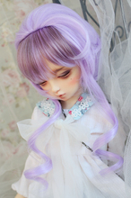 High temperature wire bjd wig purple gold mixed -1/31/41/6(China (Mainland))