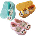 Baby Jelly Shoes Girls Sandals Mini Melissa Kids with Owl Pattern 2016 New Summer Cartoon  Princess Children Shoes