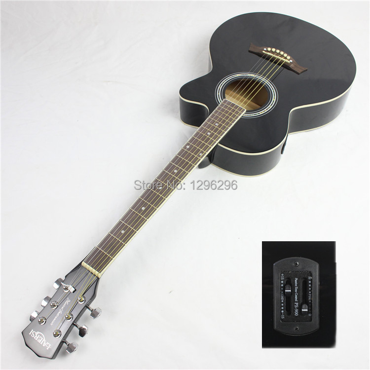 free shipping 39inch electric guitar black guitar+eq electric guitar About 98 cm(China (Mainland))