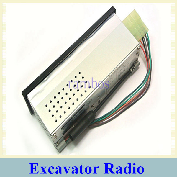Support AM FM 12V/24Volt Car Radio with USB and Aux-in Worldwide Frequency Radio MP3 Player for Excavator Tractor(China (Mainland))