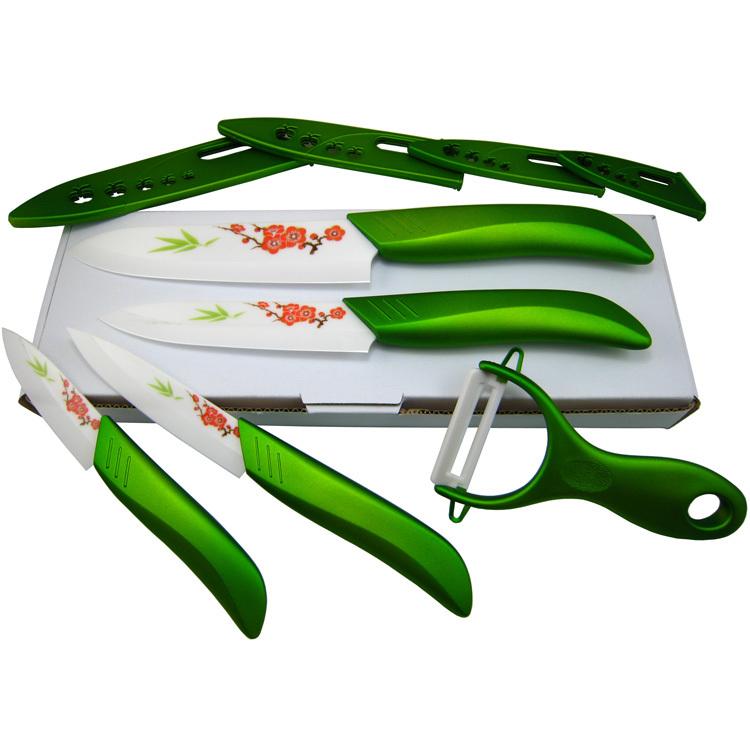 quality flower printed ceramic knife set kitchen knives fruit chefs knife kit 3 4 5 6 inch. Black Bedroom Furniture Sets. Home Design Ideas