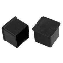 "USA Stock! Newest 10 Pcs Black 1"" x 1"" Furniture Square Rubber Foot Covers Protectors(China (Mainland))"