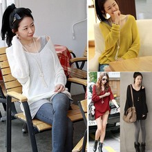 2014 New Fashion Loose Blouse Knitted Sweater Women Oversized Sweaters And Pullovers Batwing Brand Pullovers 51(China (Mainland))