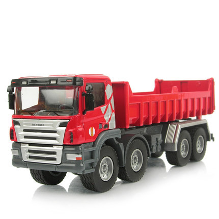 Luxury boxed dump-car dump truck transport vehicle earth moving alloy car model,toy cars for boys(China (Mainland))