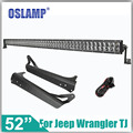 Oslamp For Jeep Wrangler TJ LJ 4WD 500W 52inch CREE Chips LED Light Bar with Windshield