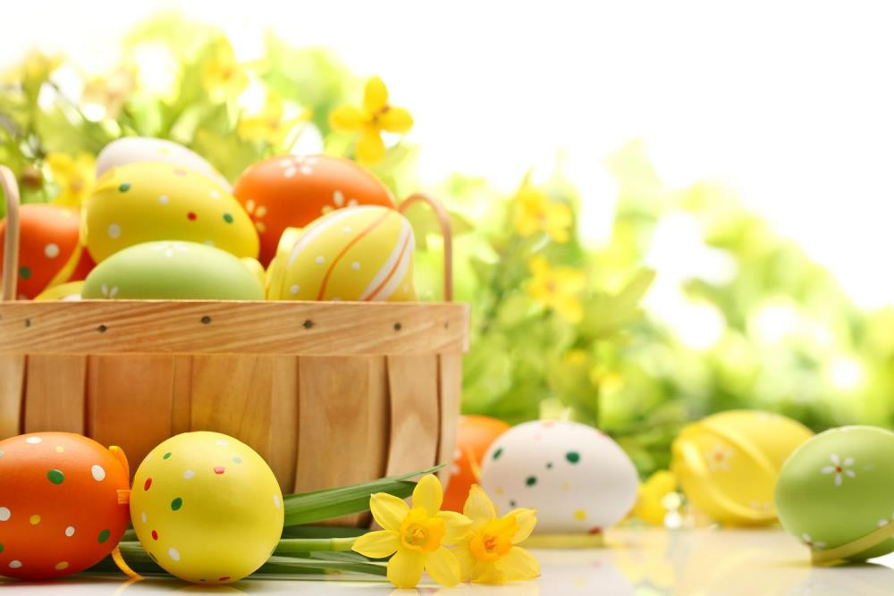 200cm*150cm easter photography backdrops Basket of eggs tulip backgrounds for photo studio Easter Sunday ZJ(China (Mainland))