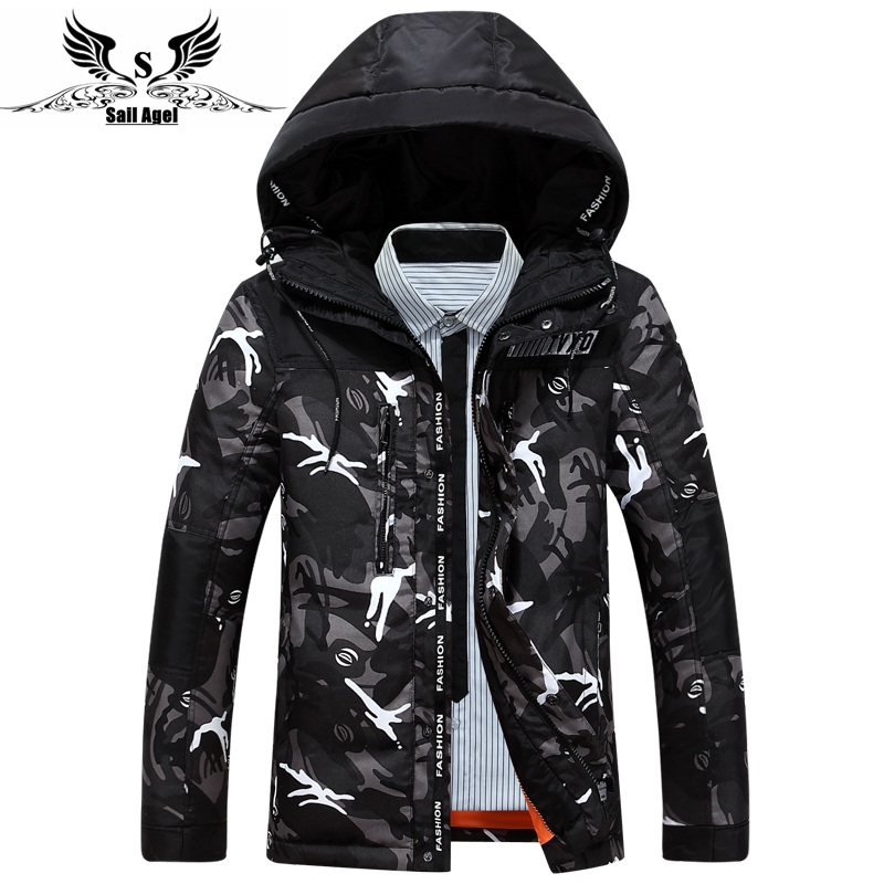 Sail Agel S new men's brand high-end men down and parkas winter leisure fashion Jacket Mens White down jacket(China (Mainland))