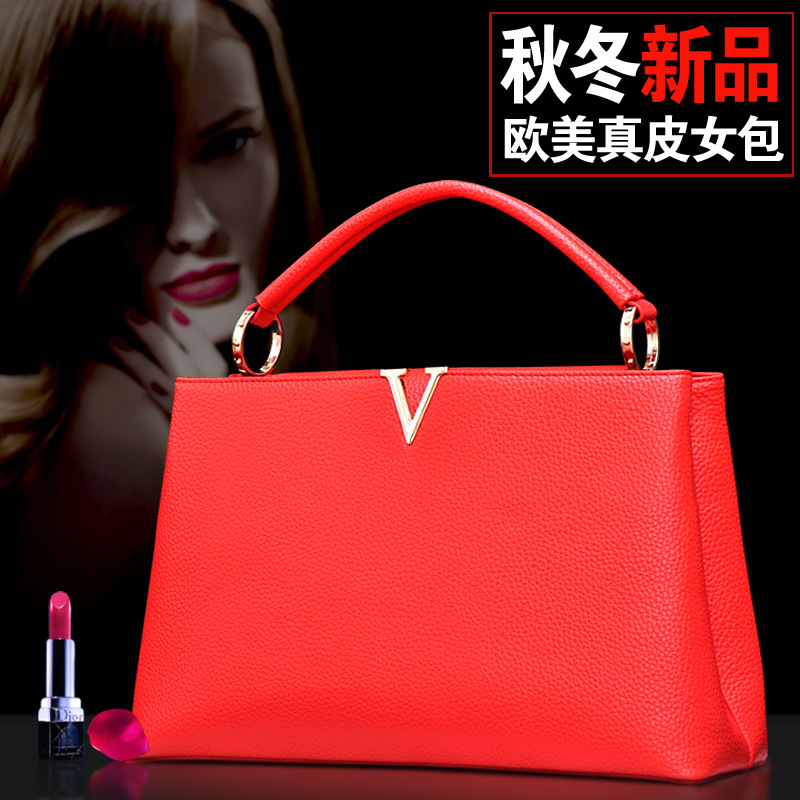 Women leather capucines bag PU leather tote brand women shoulder bags good quality women handbag with snake-handle 92039(China (Mainland))