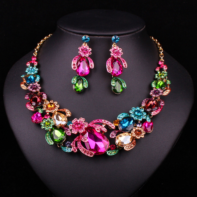 Bridal Party Jewelry Gift Sets : : Buy Bridal Jewelry Sets Wedding Necklace Earring For Brides Party ...