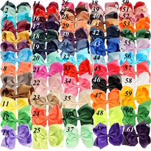 "Buy 32 Pcs/lot 6"" Fashion Handmade Solid Grosgrain Ribbon Hair Bow Kids Girls Boutique Hair Accessories Hairgrips for $18.44 in AliExpress store"