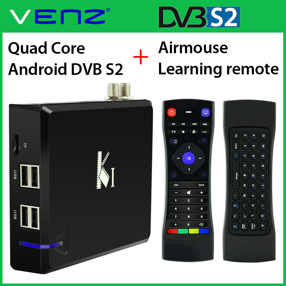 VENZ K1 quad core android dvb s2 box with IR learning airmouse dual side keyboard remote combo(China (Mainland))