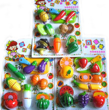 Kitchen Toys Plastic Vegetables And Fruit Pretend Play Toys For Girl Children Kids(China (Mainland))