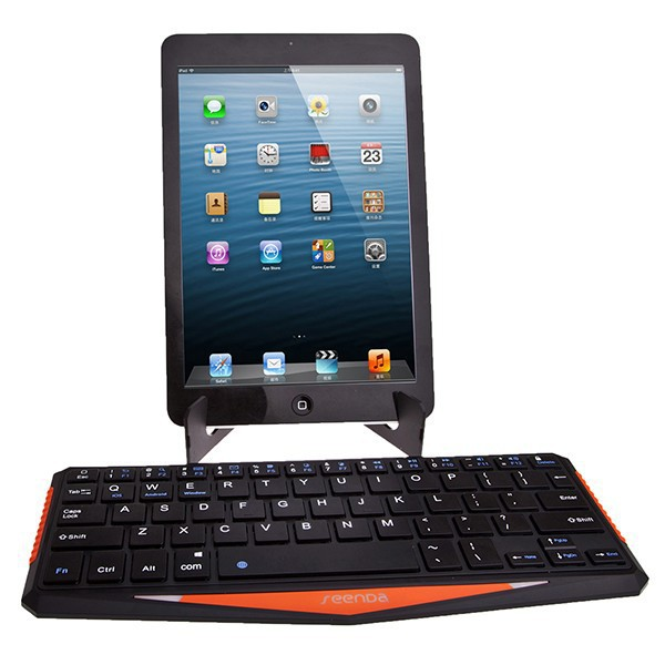 Mini Portable 8.9 inch Rechargeable Wireless Standard QWERTY Bluetooth Keyboard for Tablet PC Durable(China (Mainland))