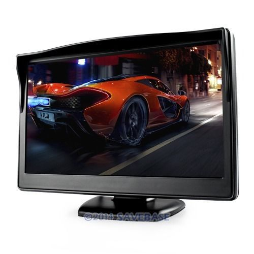 HOMSECUR 5inch 800x480 LCD Car Reverse Rearview Video AV Monitor Camera LCD Color Screen(China (Mainland))
