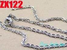 16 38 length 2mm cross chain stainless steel necklace fashion welding chain sweater chain women lady
