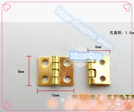 Crafts for wooden & jewelry box hinges small mini copper hinge(China (Mainland))