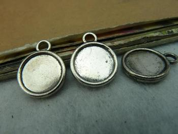 Min order is $15(Mixed order ) 20pieces/LOT 14mm Antique silver base charm