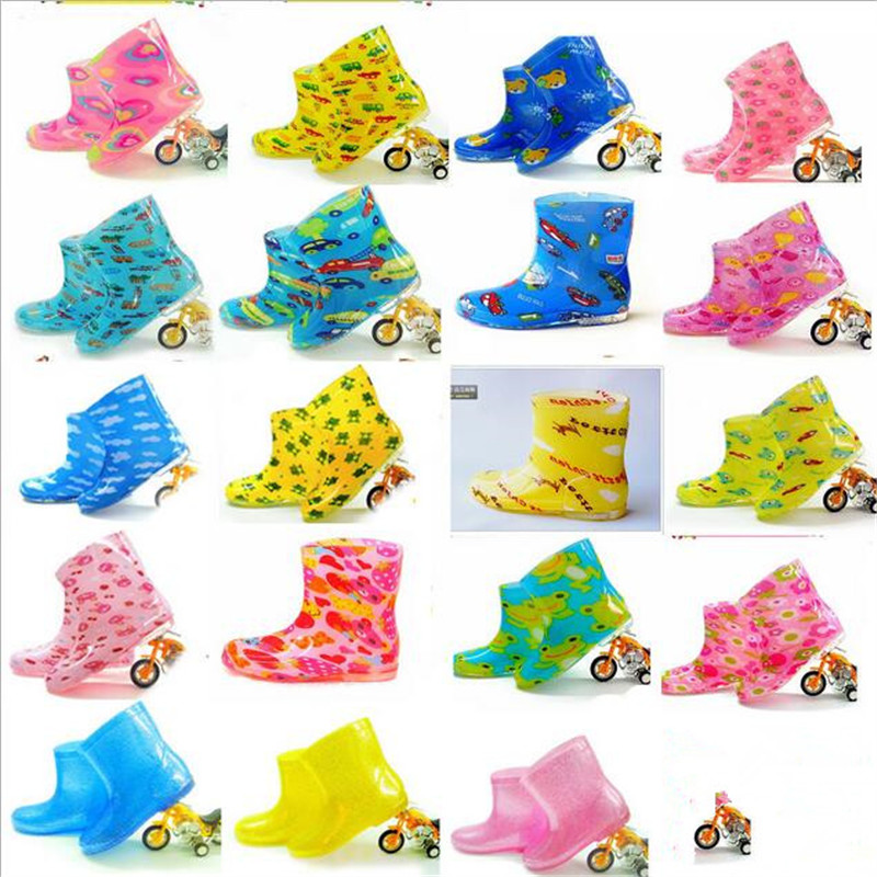 ! Children's boots / PVC cartoon images children boys girls fashion crystal Short waterproof non-slip - sports shoes stores store