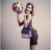 New Arrival jump paper bag gismo comic bag blue dots design handbag