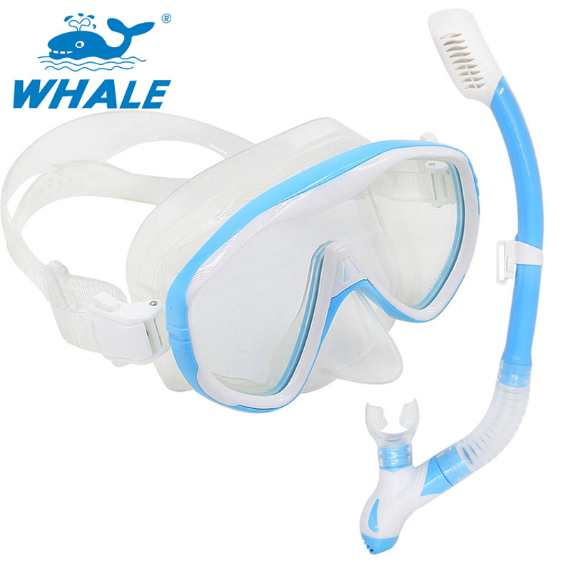 Whale Brand Scuba Diving Mask Snorkel Goggles Set Silicone Swimming Pool Equipment(China (Mainland))
