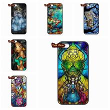 Stained Glass Ariel Cheshire Cat Case Cove For Xiaomi Mi2 Mi3 Mi4 Mi4i Mi4C Mi5 Hongmi Redmi 2 3 Note 2 3 Pro(China (Mainland))