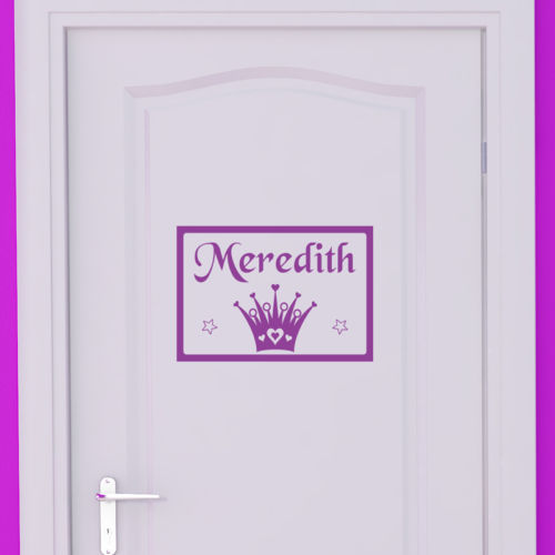 Personalised Girl Name Princess Door Vinyl Wall Sticker Wall Decal Kids BedRoom Decoration Wallpaper Wall Mural Art
