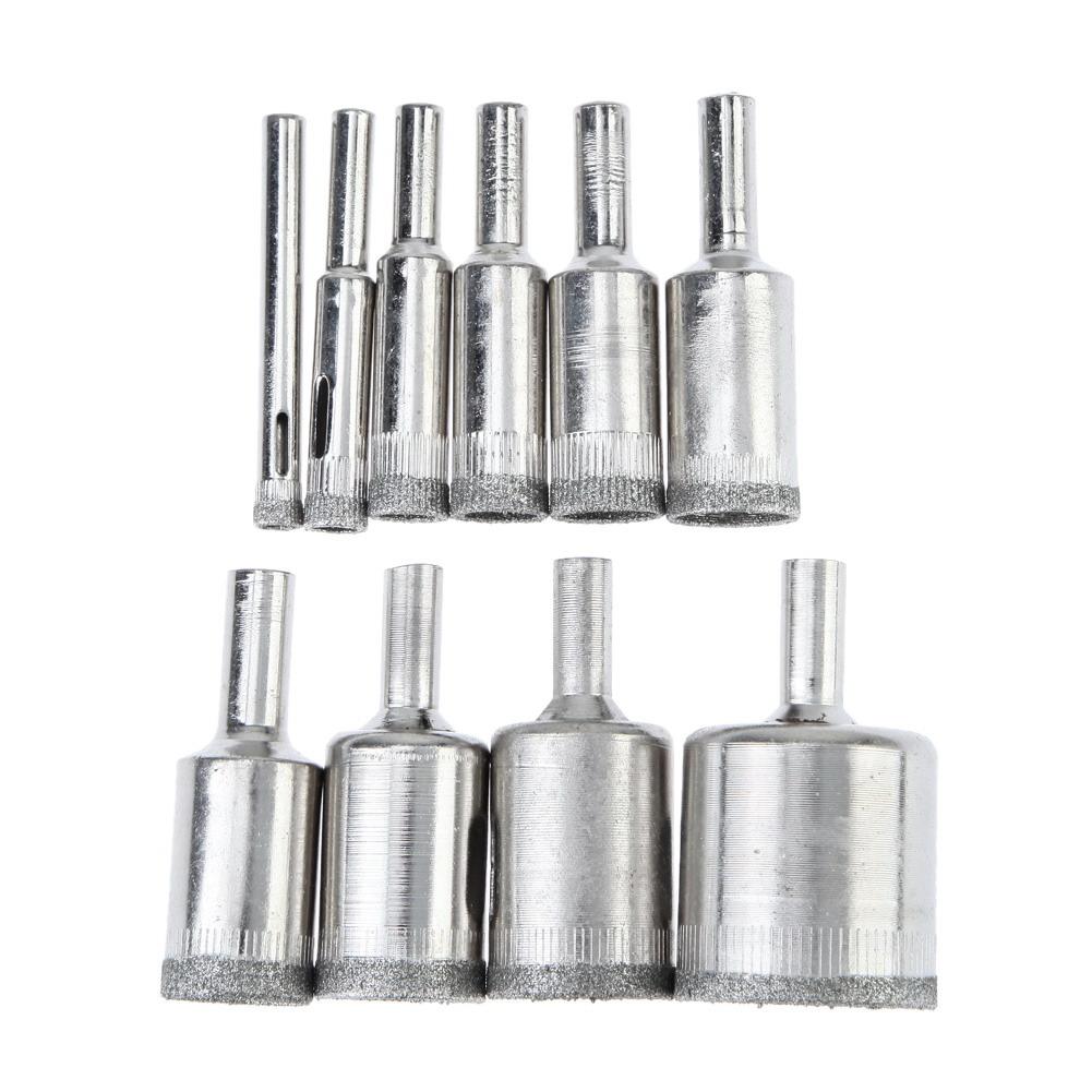 4mm diamond twist drill bit - High Quality 10pcs Diamond Drill Bit Set 6mm 30mm Diamond Coated Hole Saw Cutter Core