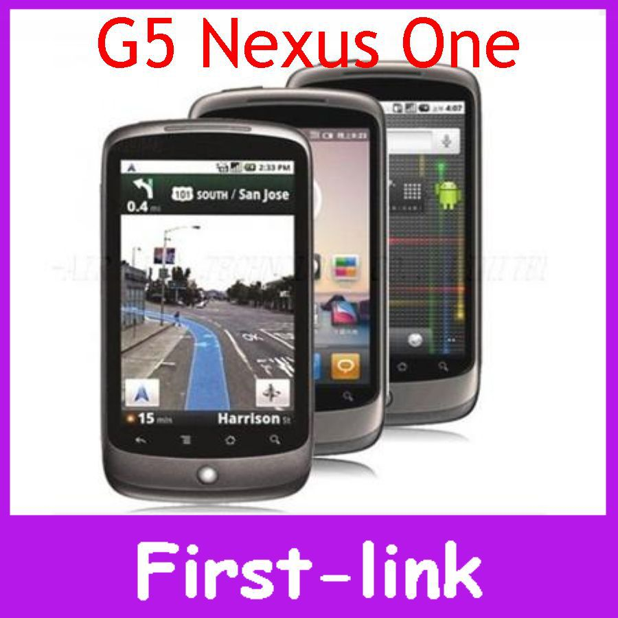 Unlocked Original HTC Google Nexus One G5 Mobile Phones WIFI GPS Android 3G 5MP 3.7 inch Touch Screen in Stock Free Shipping(China (Mainland))