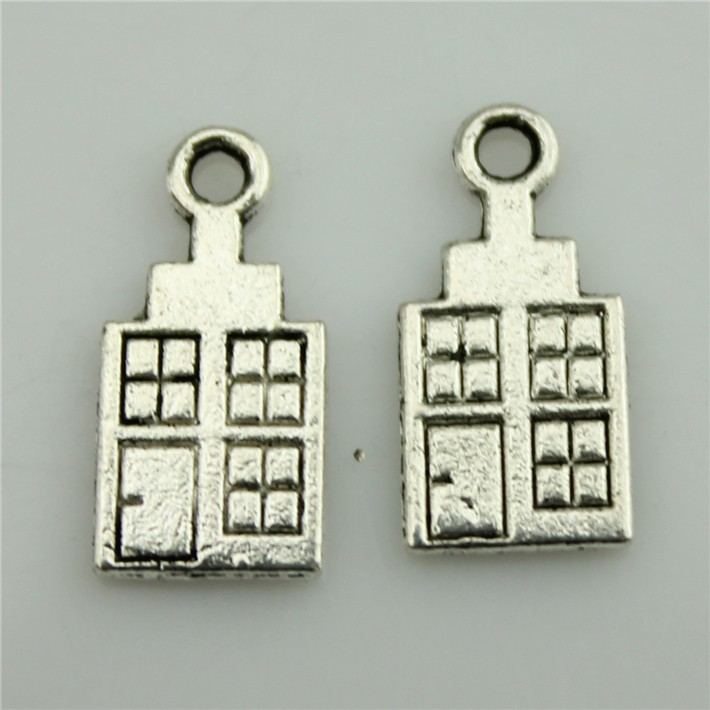 Red Cross hospital house Free Shipping 50Pcs Antique Silver Zinc Alloy Charms Pendants for Jewelry Making Handmade DIY 17*8mm(China (Mainland))