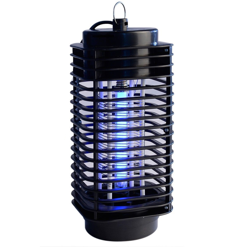 "1 PC Black Electric Mosquito Fly Bug Insect Zapper Killer Control With Trap Lamp 220V 4.5 ""x 4.5"" x 10 ""(China (Mainland))"